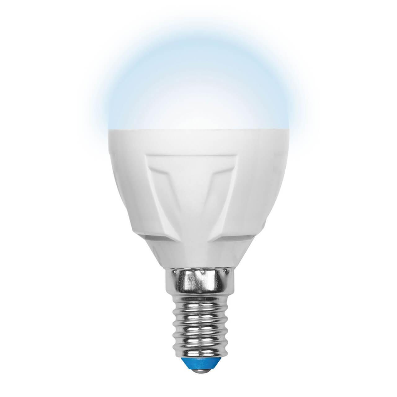 Лампочка Uniel LED-G45-7W/NW/E14/FR PLP01WH Palazzo Globe