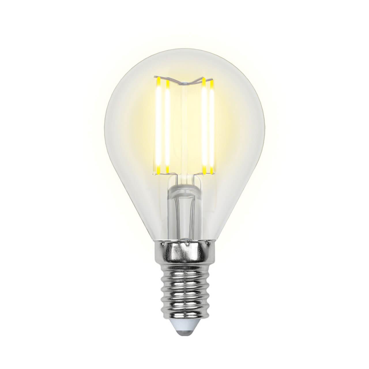 Фото - Лампочка Uniel LED-G45-6W/NW/E14/CL PLS02WH SKY Globe лампочка uniel led g45 13w 3000k e27 cl pls02wh sky