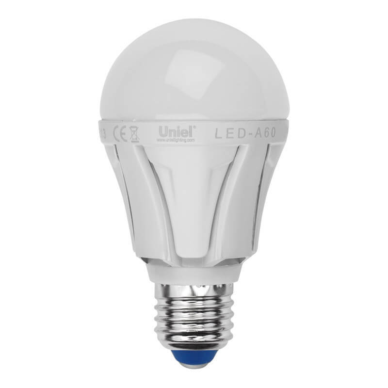 Лампа светодиодная (UL-00001524) Uniel E27 10W 3000K матовая LED-A60 10W/WW/E27/FR PLP01WH