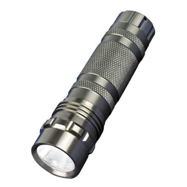 Ручной светодиодный фонарь Uniel (05623) от батареек 60 лм S-LD023-C Silver uniel standart 03218