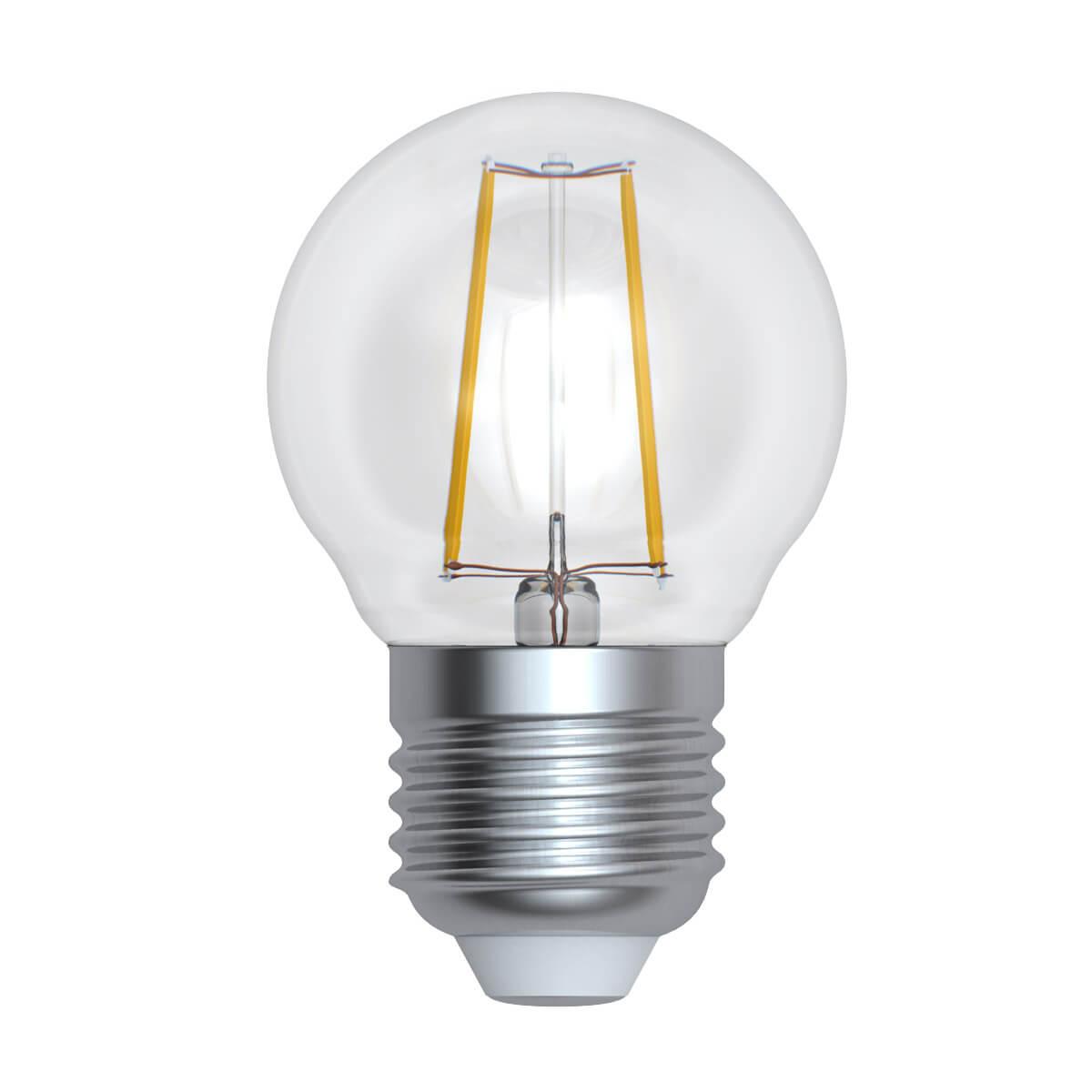 Лампочка Uniel LED-G45-9W/3000K/E27/CL/DIM GLA01TR LED-G45 лампочка uniel led g45 9w 3000k e27 cl pls02wh led g45