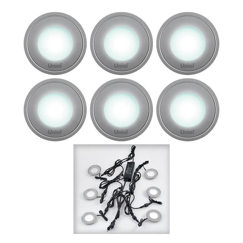 Ландшафтный светильник (08938) Uniel 4500K ULM-R06-0,5W*6/NW цены