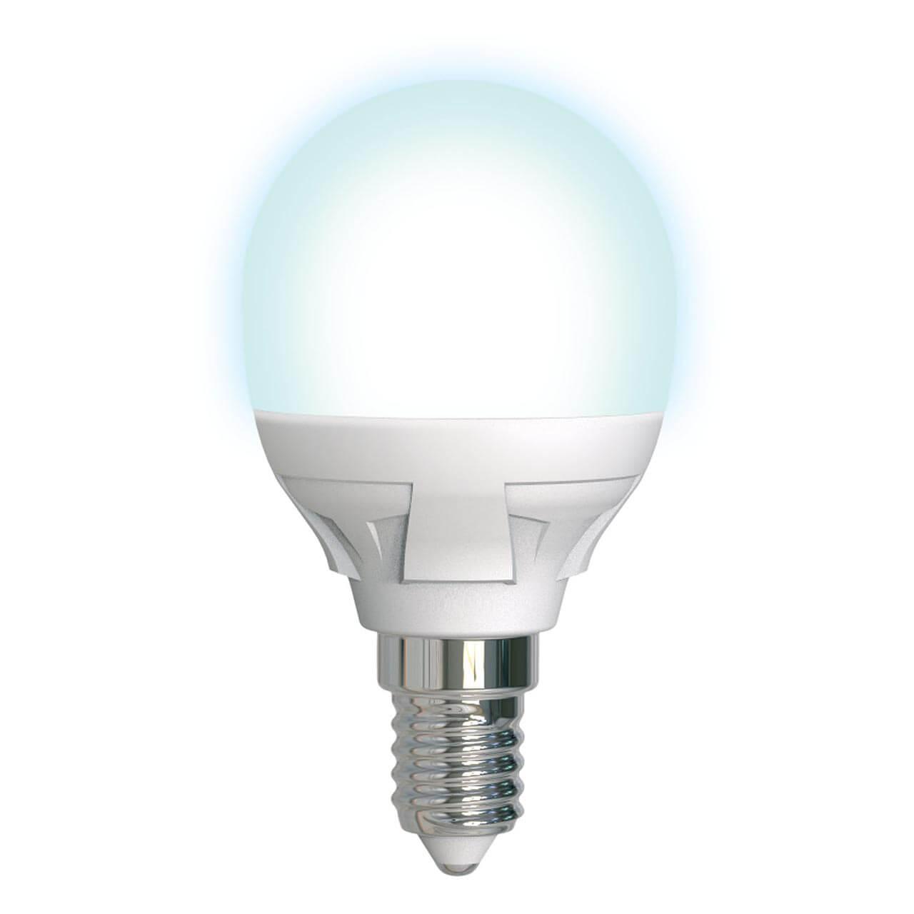 Лампа светодиодная диммируемая (UL-00004300) E14 7W 4000K матовая LED-G45 7W/4000K/E14/FR/DIM PLP01WH