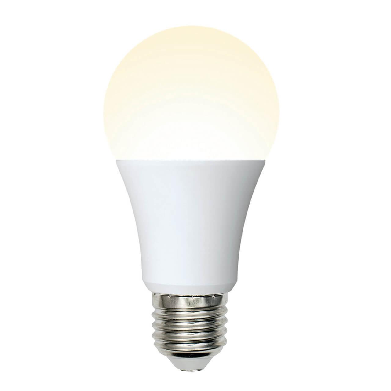 Лампа светодиодная (UL-00002371) Uniel E27 10W 3000K матовая LED-A60-10W/WW/E27/FR/MB PLM11WH
