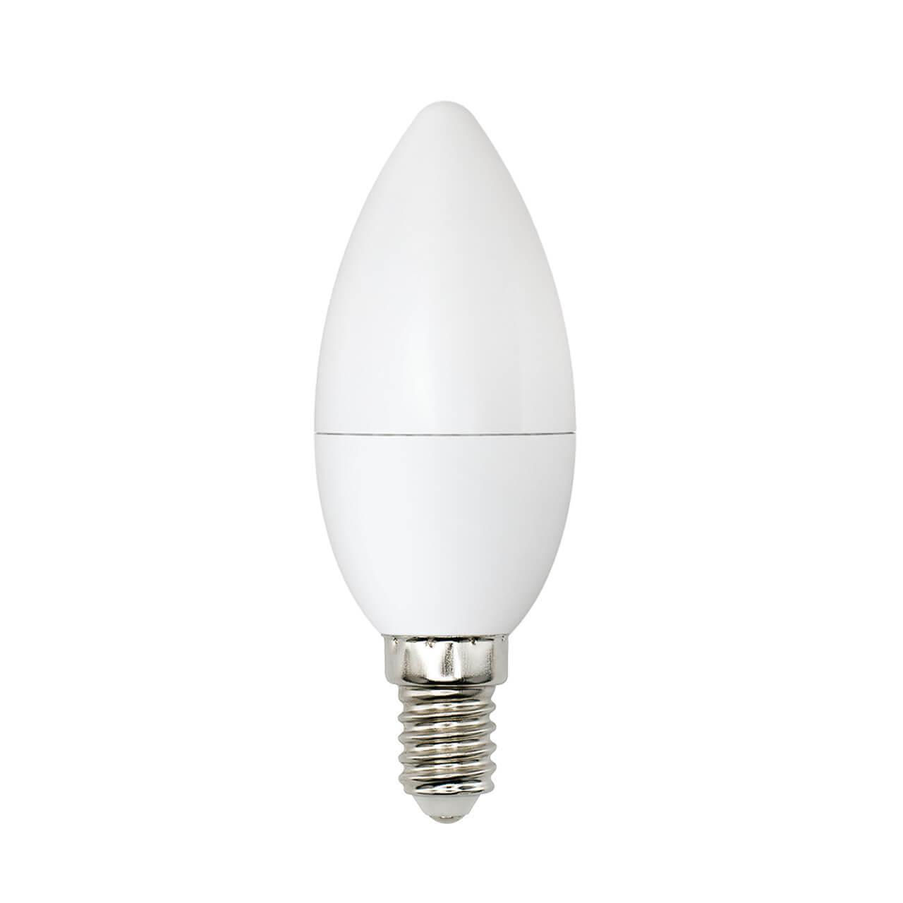 Лампа светодиодная (UL-00001570) Uniel E14 6W 4000K матовая LED-C37-6W/WW+NW/E14/FR PLB01WH цена в Москве и Питере
