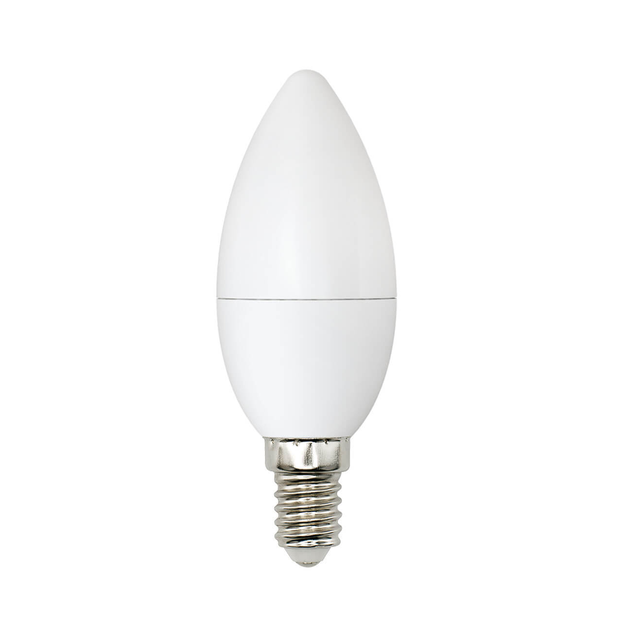 цена на Лампа светодиодная (UL-00001570) Uniel E14 6W 4000K матовая LED-C37-6W/WW+NW/E14/FR PLB01WH