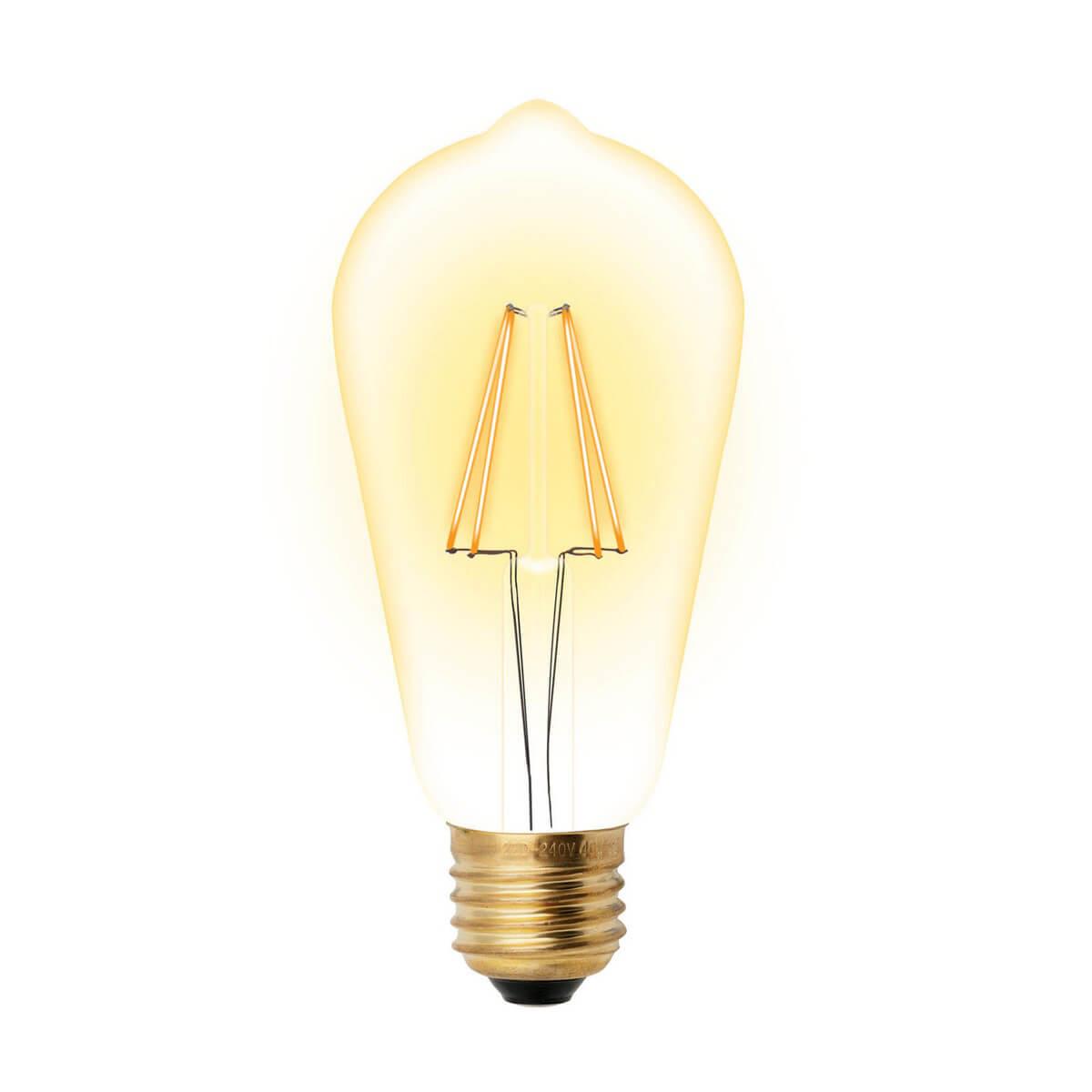 Лампочка Uniel LED-ST64-5W/GOLDEN/E27 GLV22GO Vintage фото