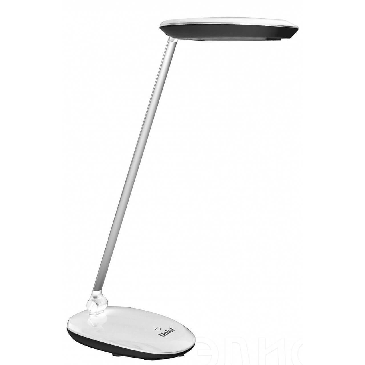Настольная лампа Uniel TLD-531 Black-White/LED/400Lm/4500K/Dimmer TLD-531 (Сенсорное управление) настольная лампа uniel tld 524 black led 500lm 4500k dimmer tld 524 сенсорное управление