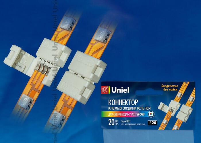 Клемма (06607) Uniel UTC-L-4/B20-RGB White 020 Polybag стоимость