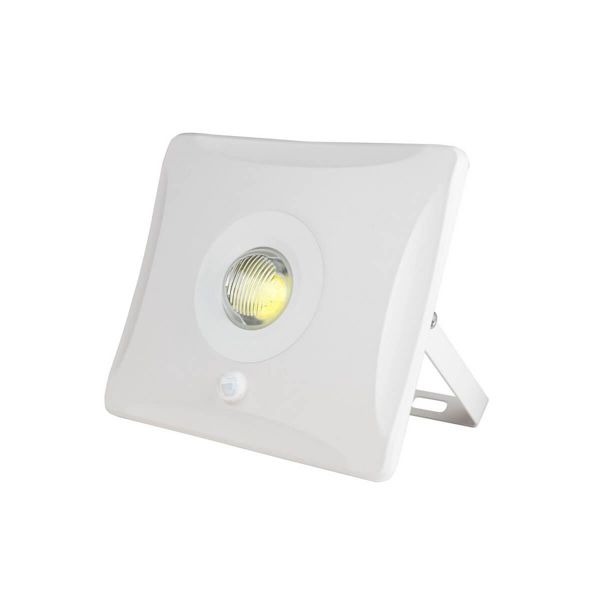 Прожектор светодиодный (UL-00000781) Uniel 10W 6000K ULF-F31-10W/DW Sensor IP65 100-265В White 7022 diy 10w 1050lm 6000k cob led white light rectangle strip yellow dc 12 14v