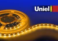 цены Светодиодная лента Uniel (04818) 14,4W/m 60LED/m 5050SMD желтый 5M ULS-5050-60LED/m-10mm-IP20-DC12V-14,4W/m-5M-YELLOW