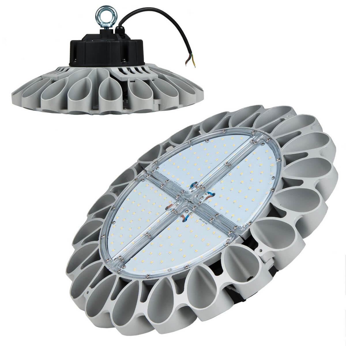Подвесной светодиодный светильник (UL-00001707) Uniel ULY-U30B-160W/NW IP65 Silver подвесной светодиодный светильник ul 00002057 uniel uly u30b 100w dw ip65 silver