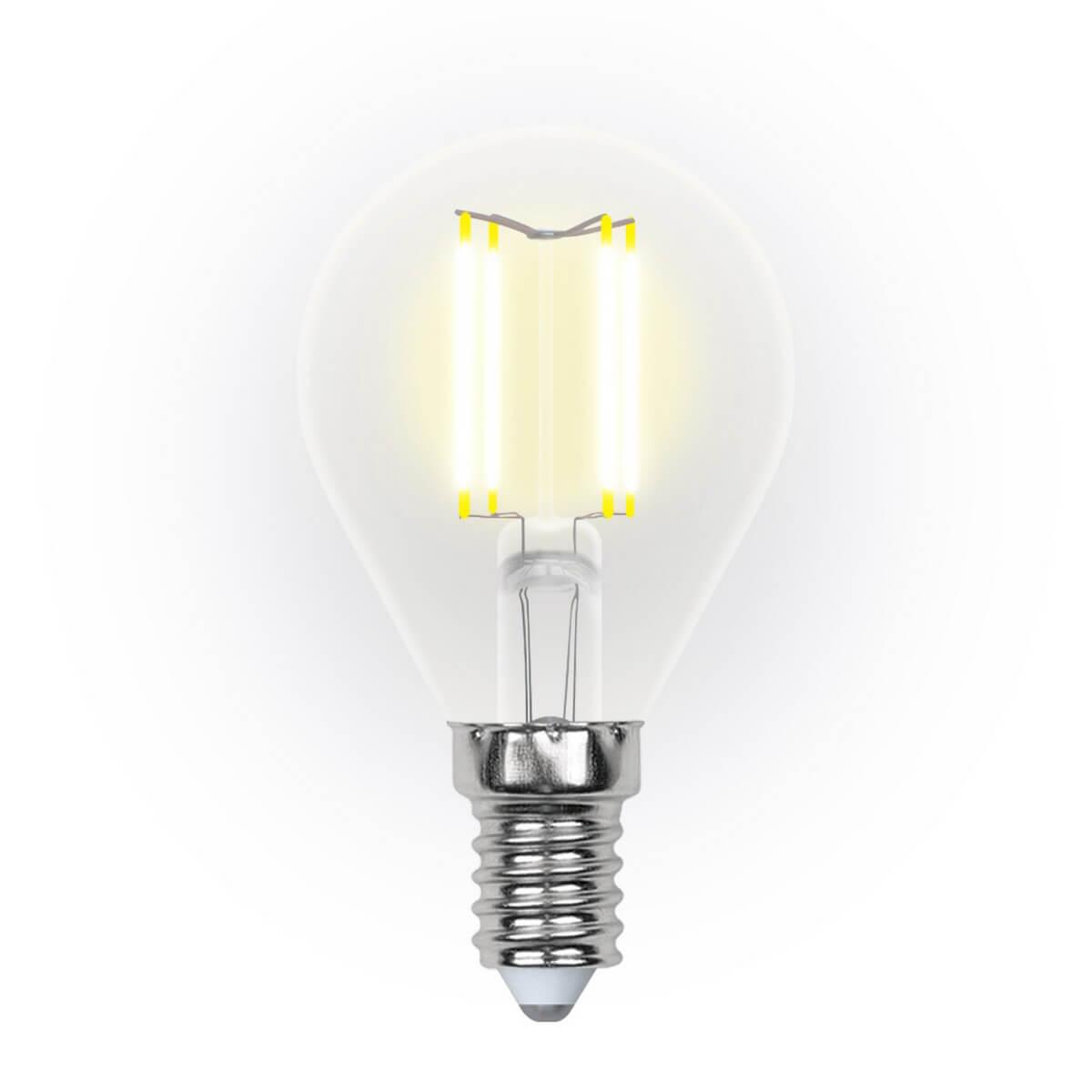 Лампочка Uniel LED-G45-5W/WW/E14/CL/DIM GLA01TR AIR DIM