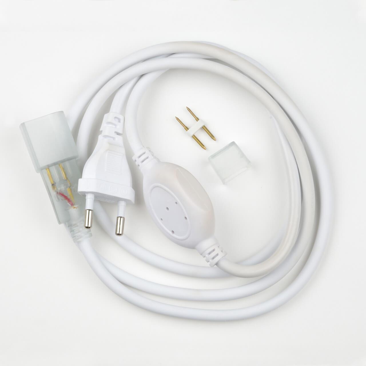 Шнур сетевой для светодиодной ленты (07692) Uniel UCX-SP4/B67-RGB White 1 Sticker