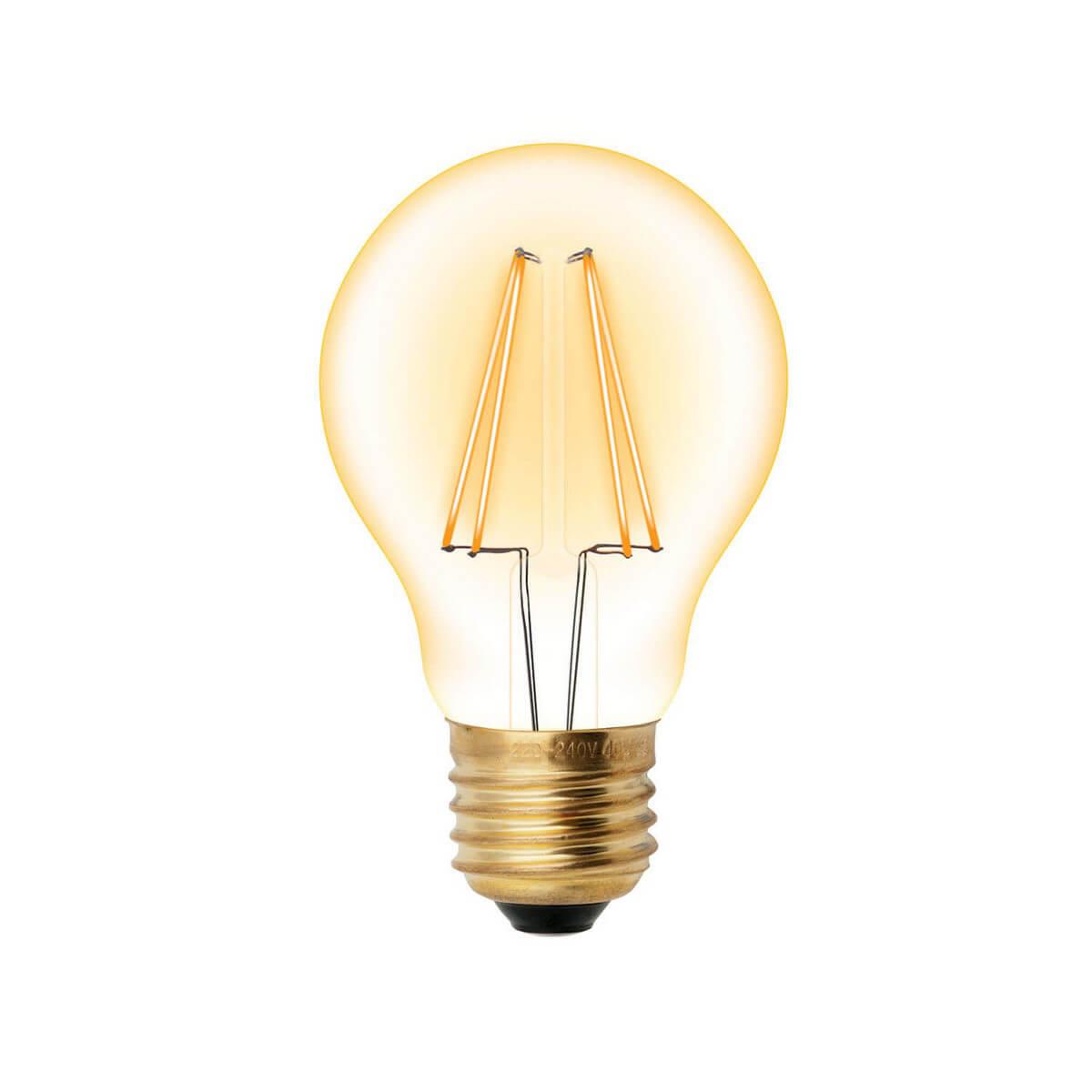 Лампочка Uniel LED-A60-6W/GOLDEN/E27 GLV21GO Vintage
