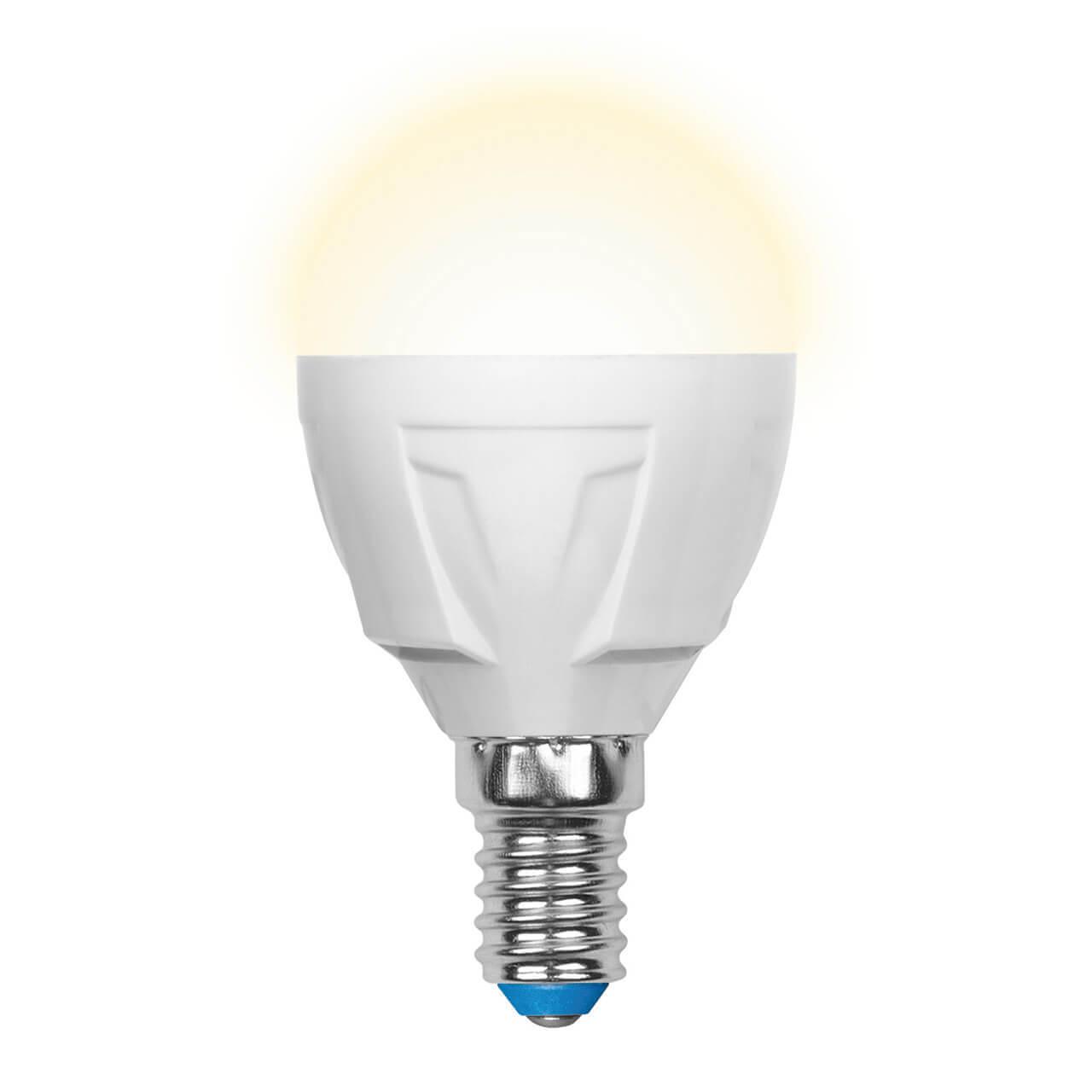 цена на Лампа светодиодная (UL-00000694) E14 6W 3000K матовая LED-G45-6W/WW/E14/FR/DIM PLP01WH