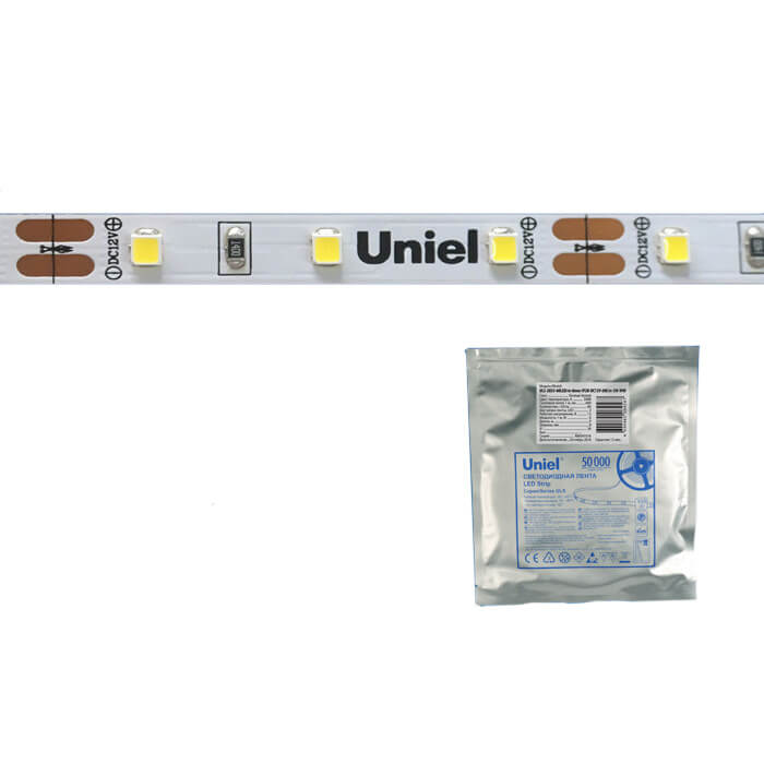 Светодиодная лента Uniel ULS-2835-60LED/m-8mm-IP20-DC24V-6W/m-5M-DW ULS