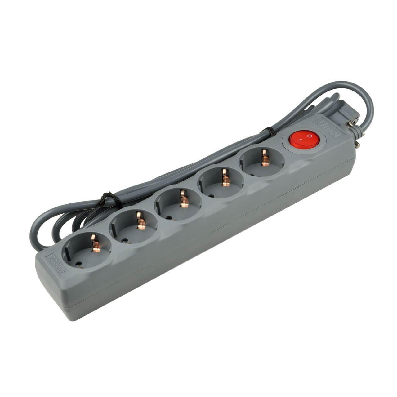 Сетевой фильтр Uniel S-GSU5-5 Grey Universal