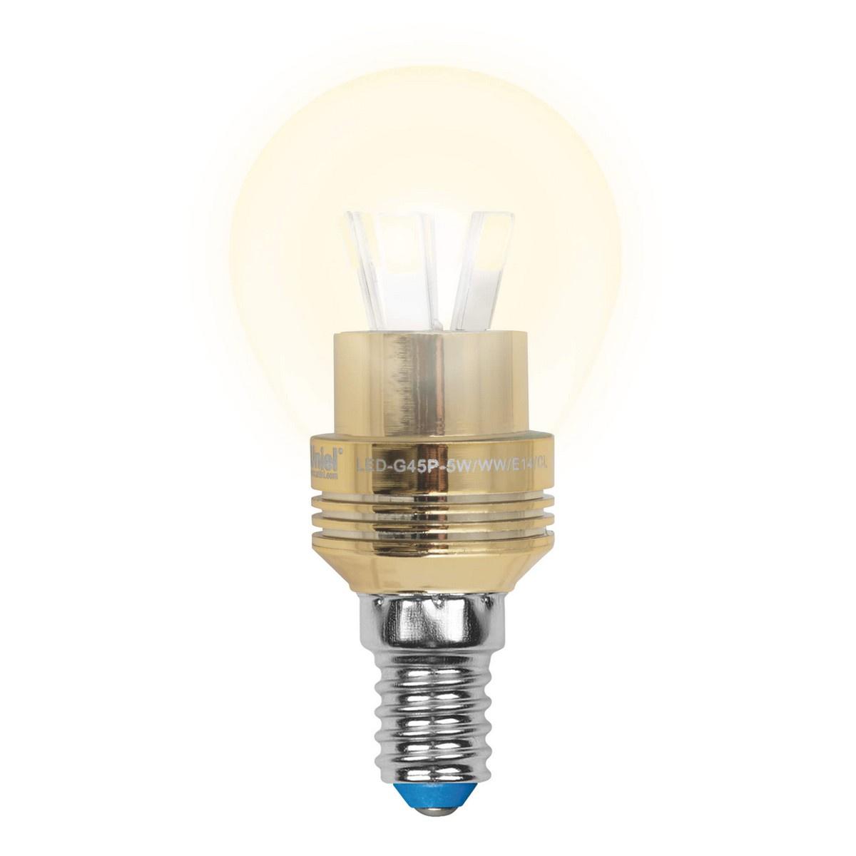 Лампа светодиодная (10062) E14 5W 3000K матовая LED-G45P-5W/WW/E14/FR ALC02GD