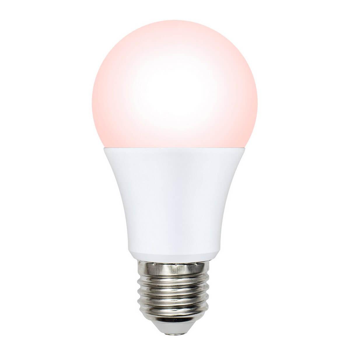 Фото - Лампочка Uniel LED-A60-9W/SCEP/E27/FR/DIM IP65 PLO65WH LED-A60 (Диммирование) лампочка uniel led a60 9w nw e27 fr alm