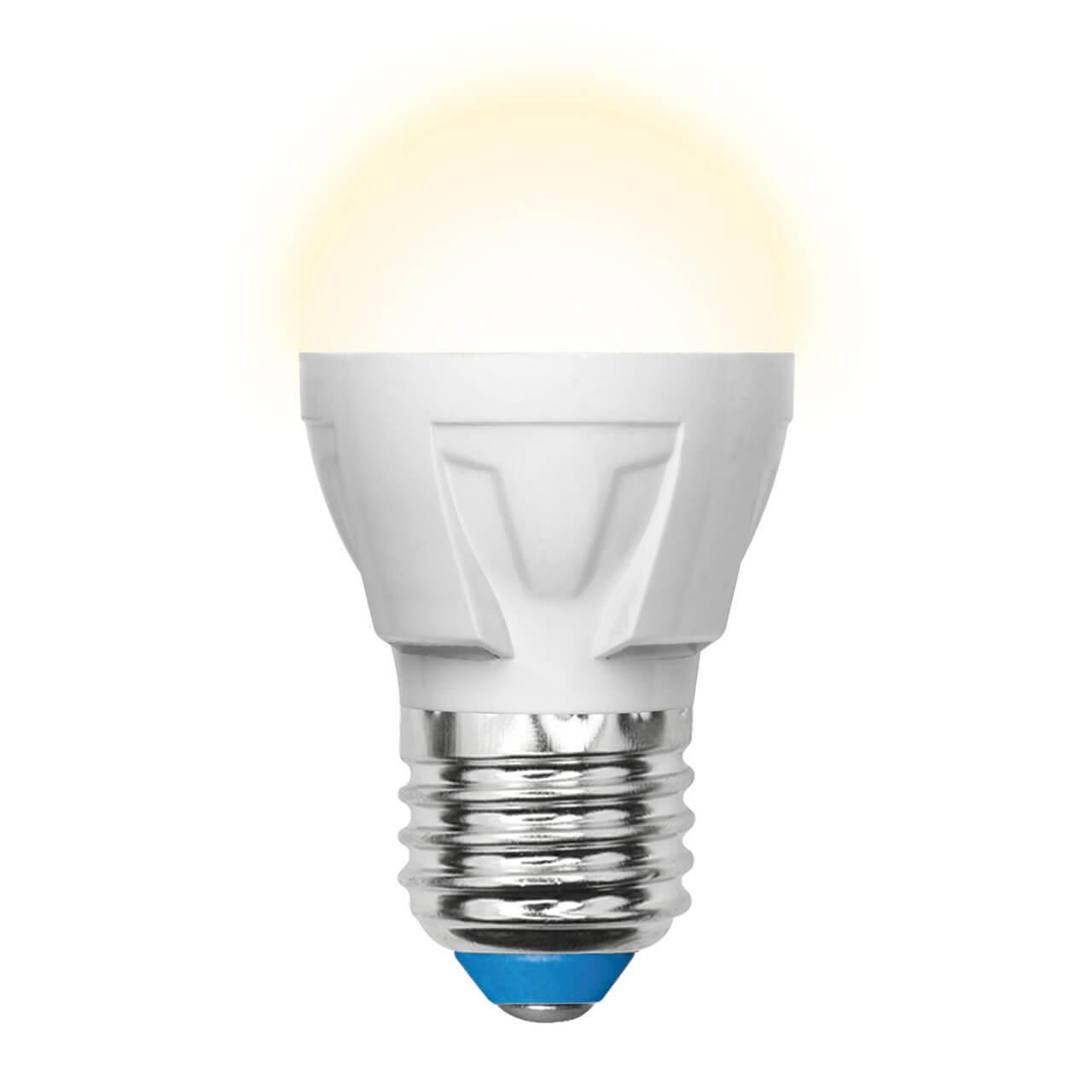 Лампа светодиодная (UL-00002420) Uniel E27 7W 3000K матовая LED-G45 7W/WW/E27/FR PLP01WH