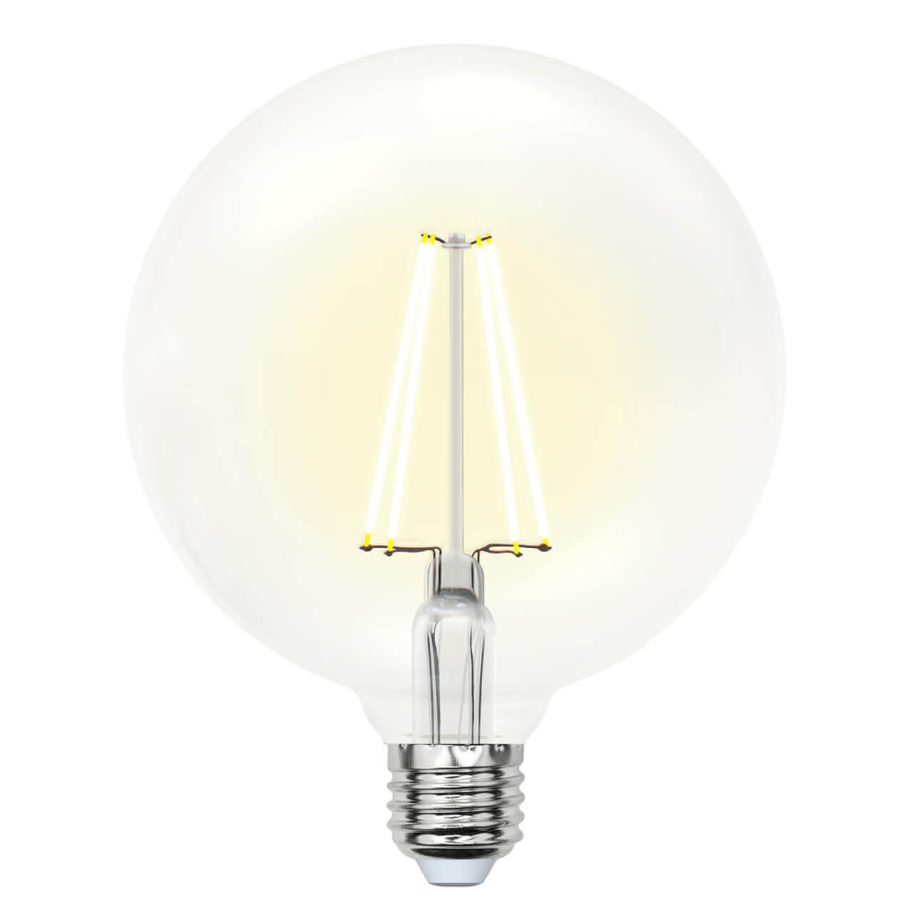 Фото - Лампочка Uniel LED-G125-10W/WW/E27/CL PLS02WH SKY Globe лампочка uniel led a60 10w ww e27 cl pls02wh sky