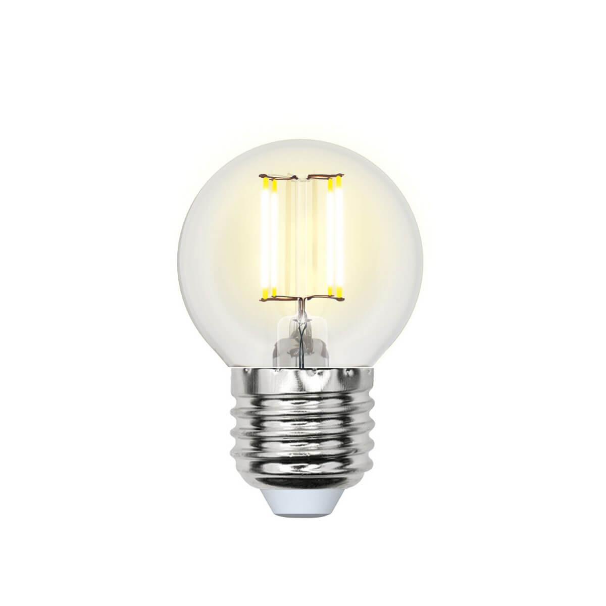 Лампочка Uniel LED-G45-5W/NW/E27/CL/DIM GLA01TR AIR DIM