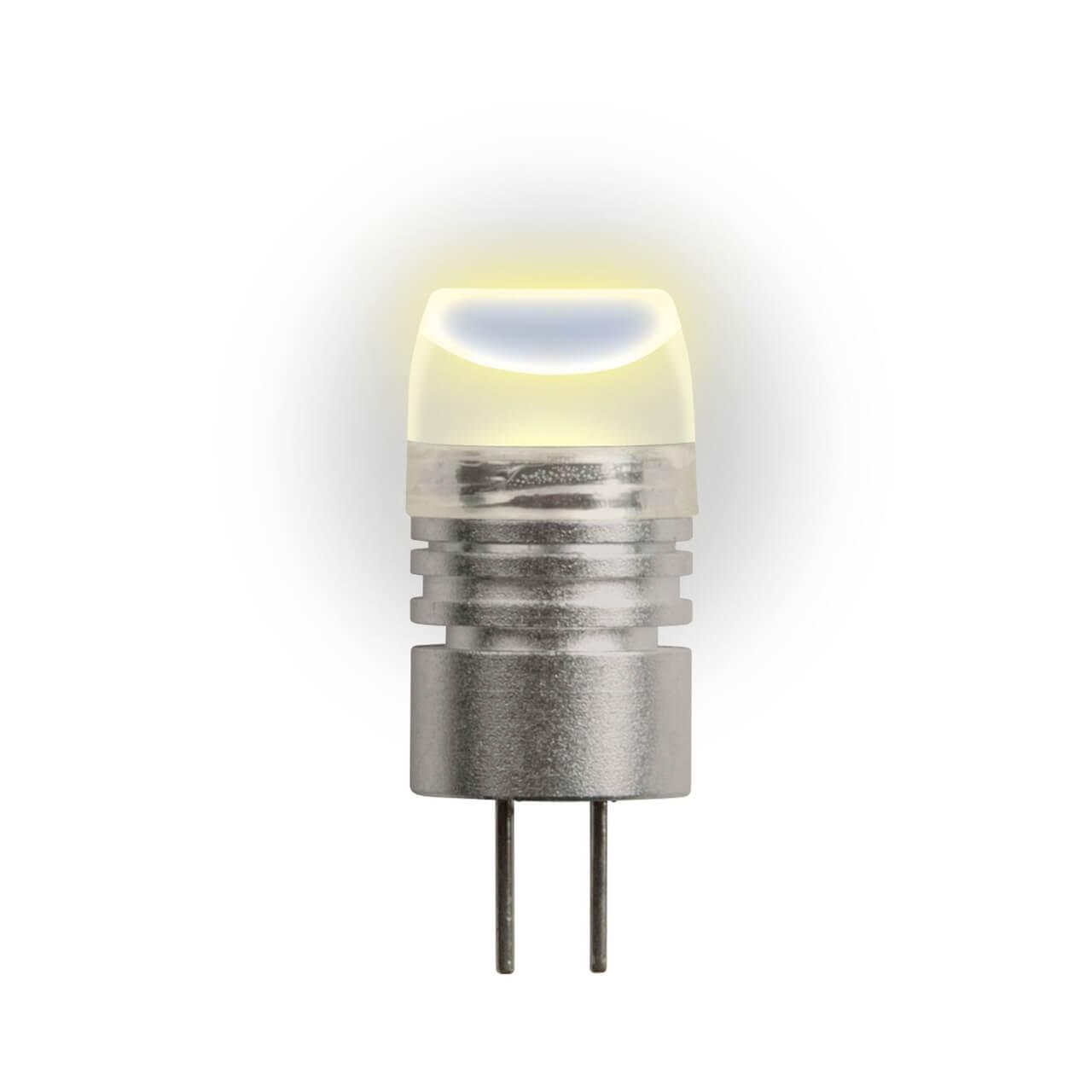 Лампа светодиодная (05854) G4 0,8W 2700K прозрачная LED-JC-12/0,8W/WW/G4 35lm uniel лампа галогенная uniel капсула прозрачная g4 35w jc 220 35 g4 cl 02585