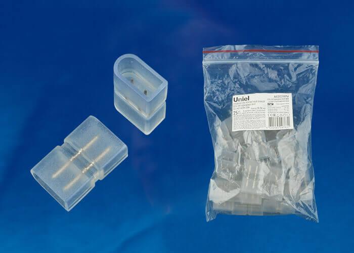 Соединение прямое для светодиодной ленты (UL-00002929) Uniel UTC-K-12/N21 Clear 025 Polybag стоимость