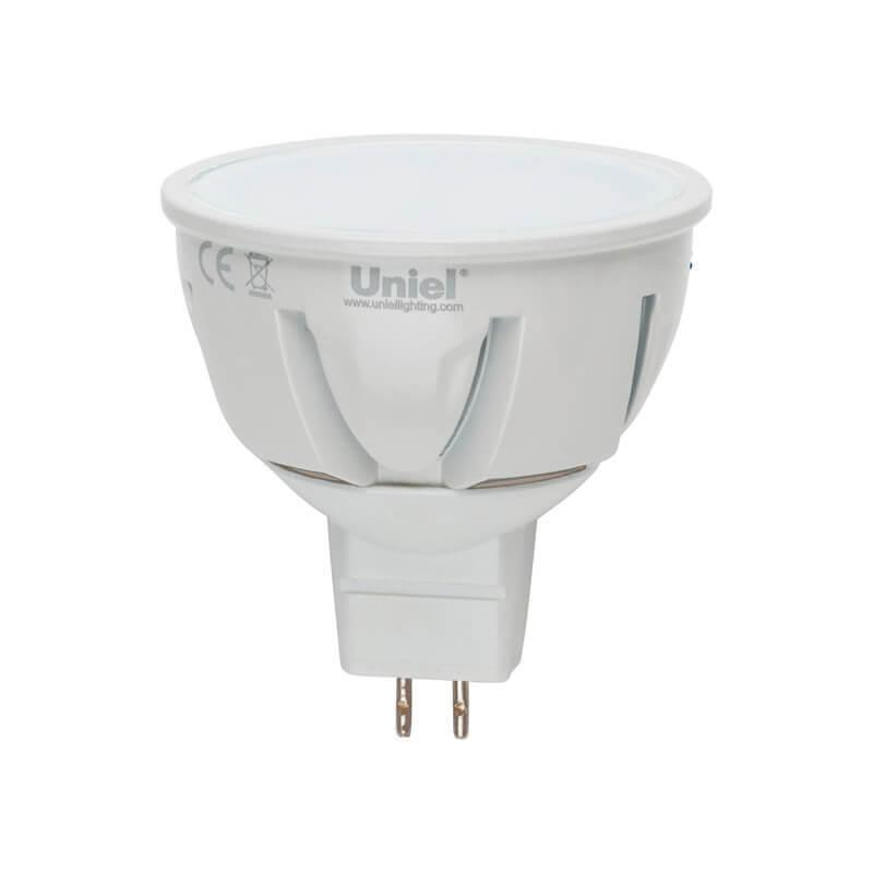Лампа светодиодная (07911) GU5.3 5W 4500K JCDR матовая LED-JCDR-5W/NW/GU5.3/FR ALP01WH