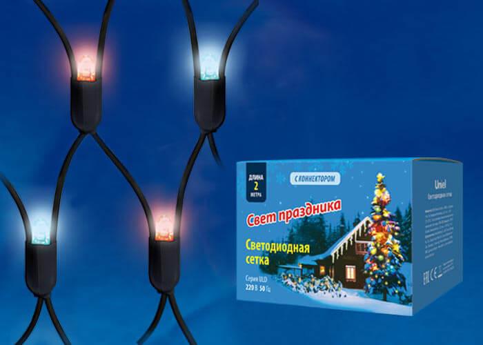 цена на Гирлянда Uniel ULD-N2015-288/SBK Red-Blue IP67 Сетка