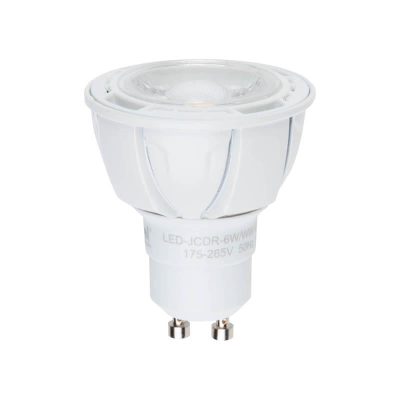 Лампа светодиодная (UL-00001664) Uniel GU10 6W 3000K матовая LED-JCDR-6W/WW/GU10/FR/DIM PLP01WH