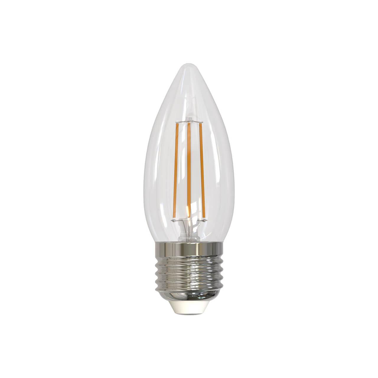 цены Лампа светодиодная филаментная (UL-00005162) Uniel E27 9W 3000K прозрачная LED-C35-9W/3000K/E27/CL PLS02WH