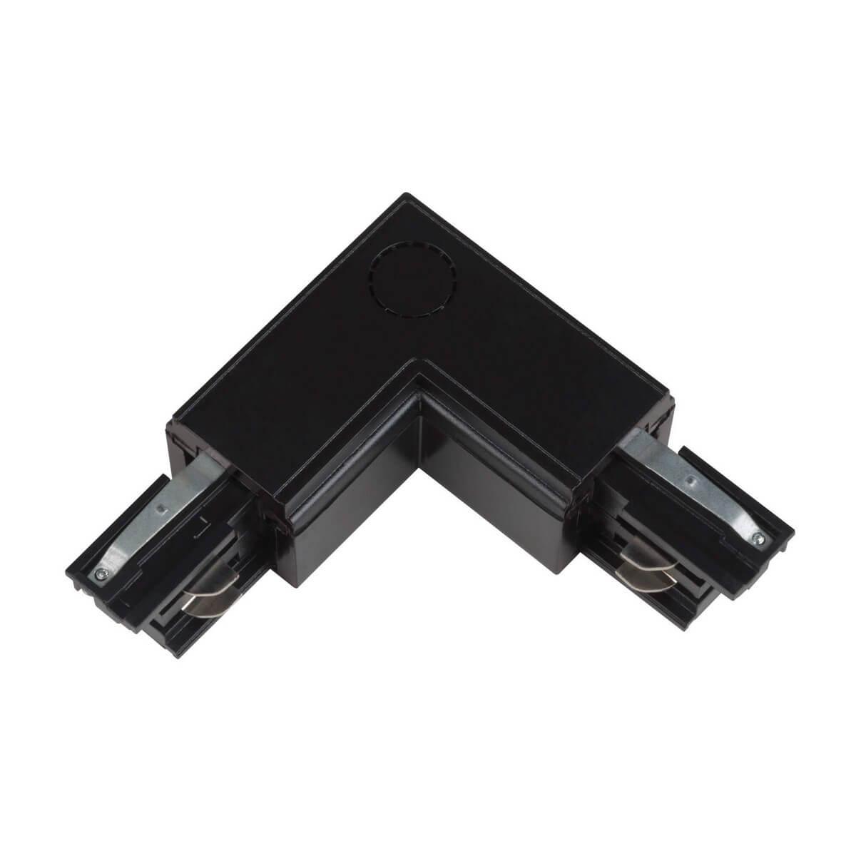 Соединитель для шинопроводов L-образный внешний (09763) Uniel UBX-A21 Black цена