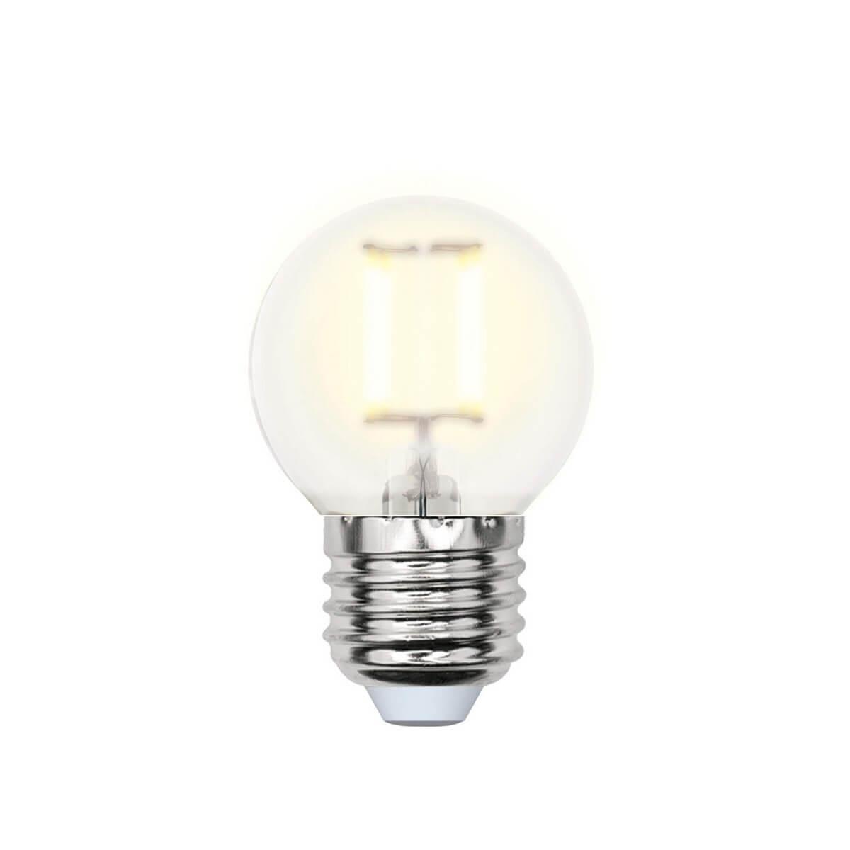 Лампочка Uniel LED-G45-6W/WW/E27/FR PLS02WH SKY Globe