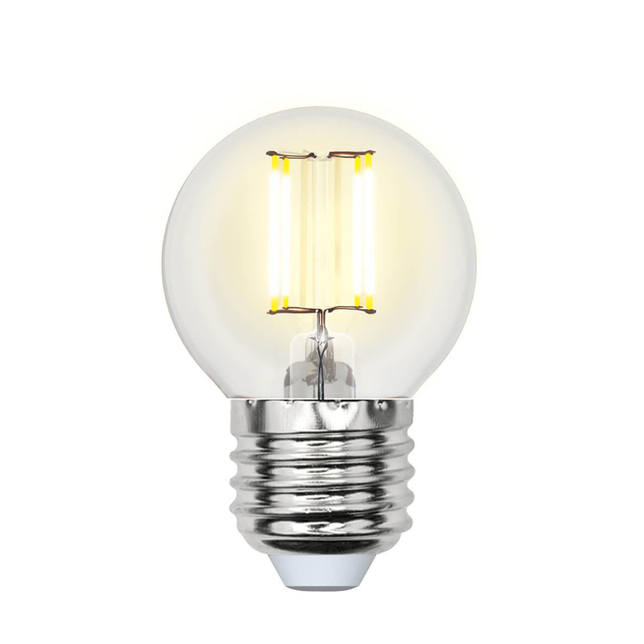 Лампочка Uniel LED-G45-6W/NW/E27/CL PLS02WH SKY Globe лампочка uniel led g45 9w 3000k e27 cl pls02wh led g45