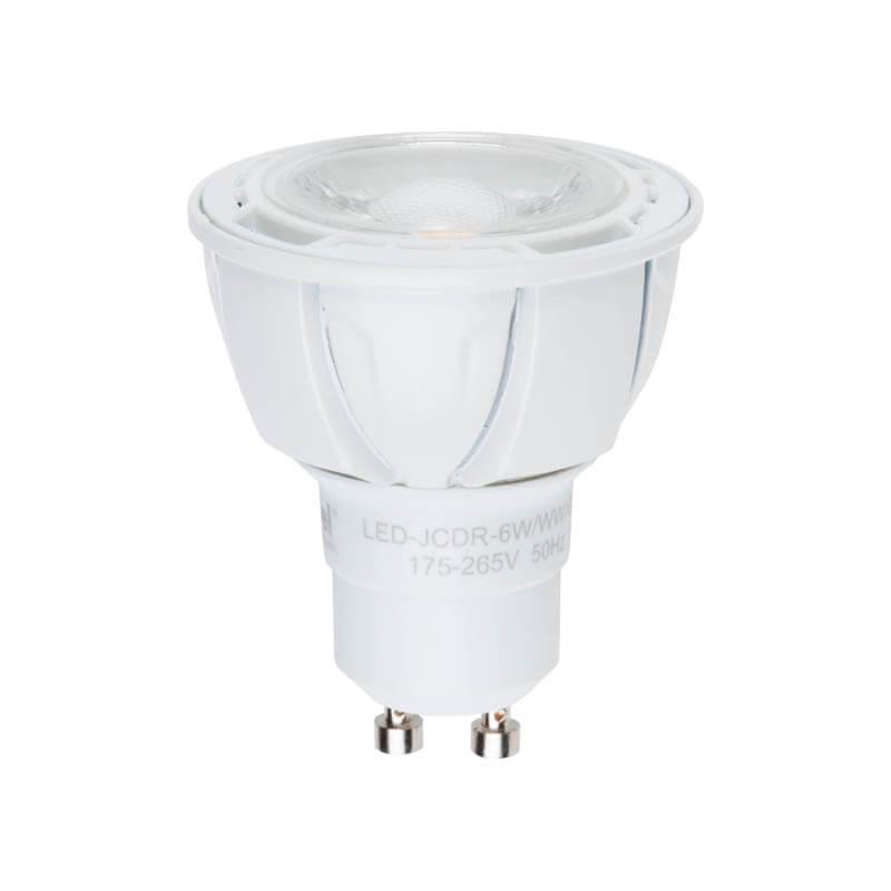 Лампа светодиодная диммируемая (UL-00003988) Uniel GU10 6W 4000K матовая LED-JCDR 6W/NW/GU10/FR/DIM PLP01WH