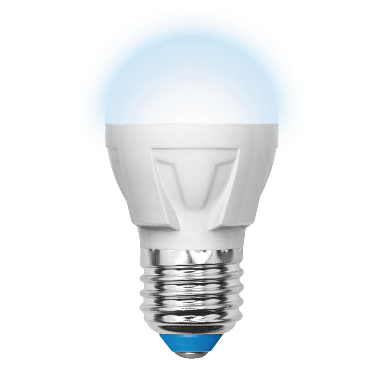 цена на Лампа светодиодная диммируемая (UL-00000693) E27 6W 4500K матовая LED-G45-6W/NW/E27/FR/DIM