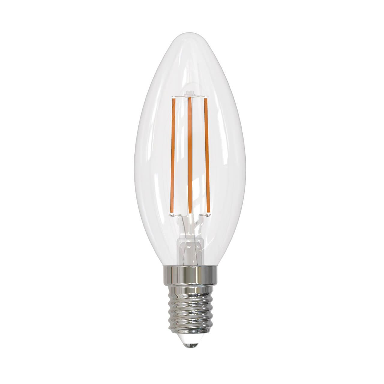 Лампа светодиодная филаментная диммируемая (UL-00005185) Uniel E14 9W 3000K прозрачная LED-C35-9W/3000K/E14/CL/DIM GLA01TR