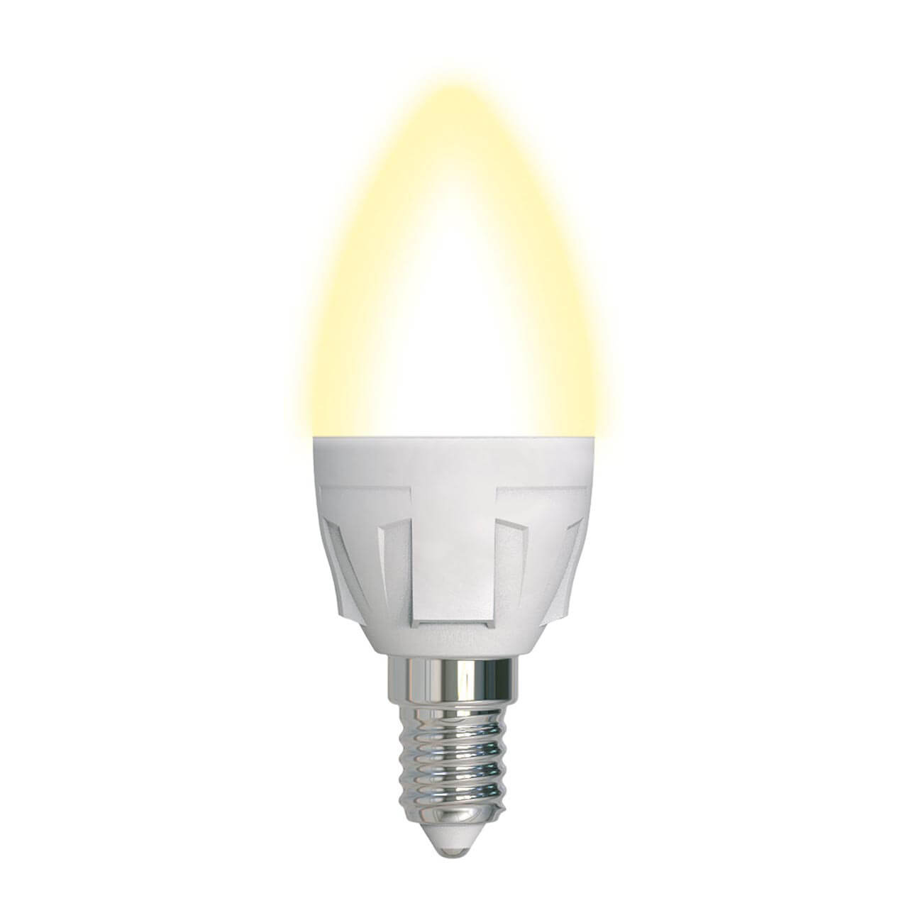 Лампа светодиодная диммируемая (UL-00004296) Uniel E14 7W 3000K матовая LED-C37 7W/3000K/E14/FR/DIM PLP01WH цена и фото