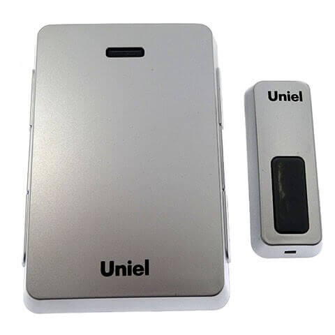 цена на Звонок беспроводной (03612) Uniel UDB-005W-R1T1-32S-100M-SL