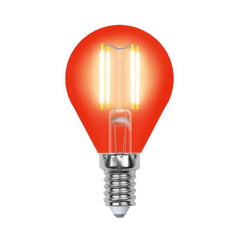 Лампочка Uniel LED-G45-5W/RED/E14 GLA02RD AIR Color