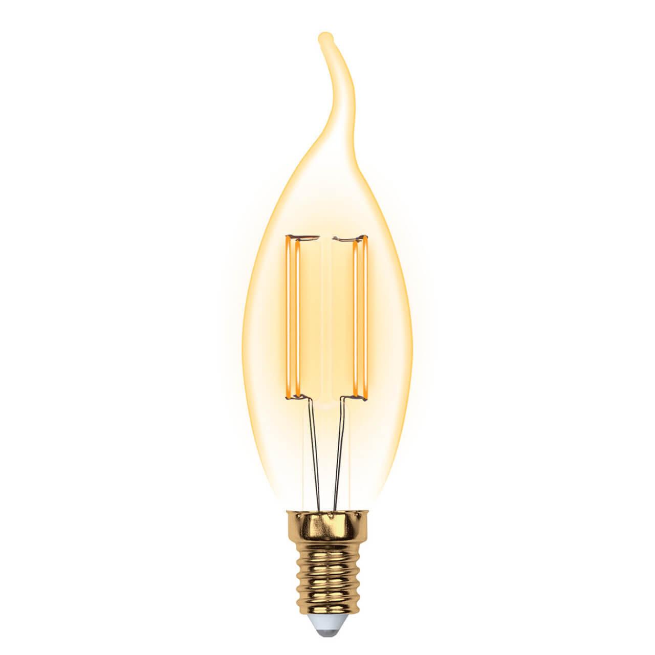 Лампа светодиодная (UL-00002397) E14 5W 2250K прозрачная LED-CW35-5W/GOLDEN/E14 GLV21GO