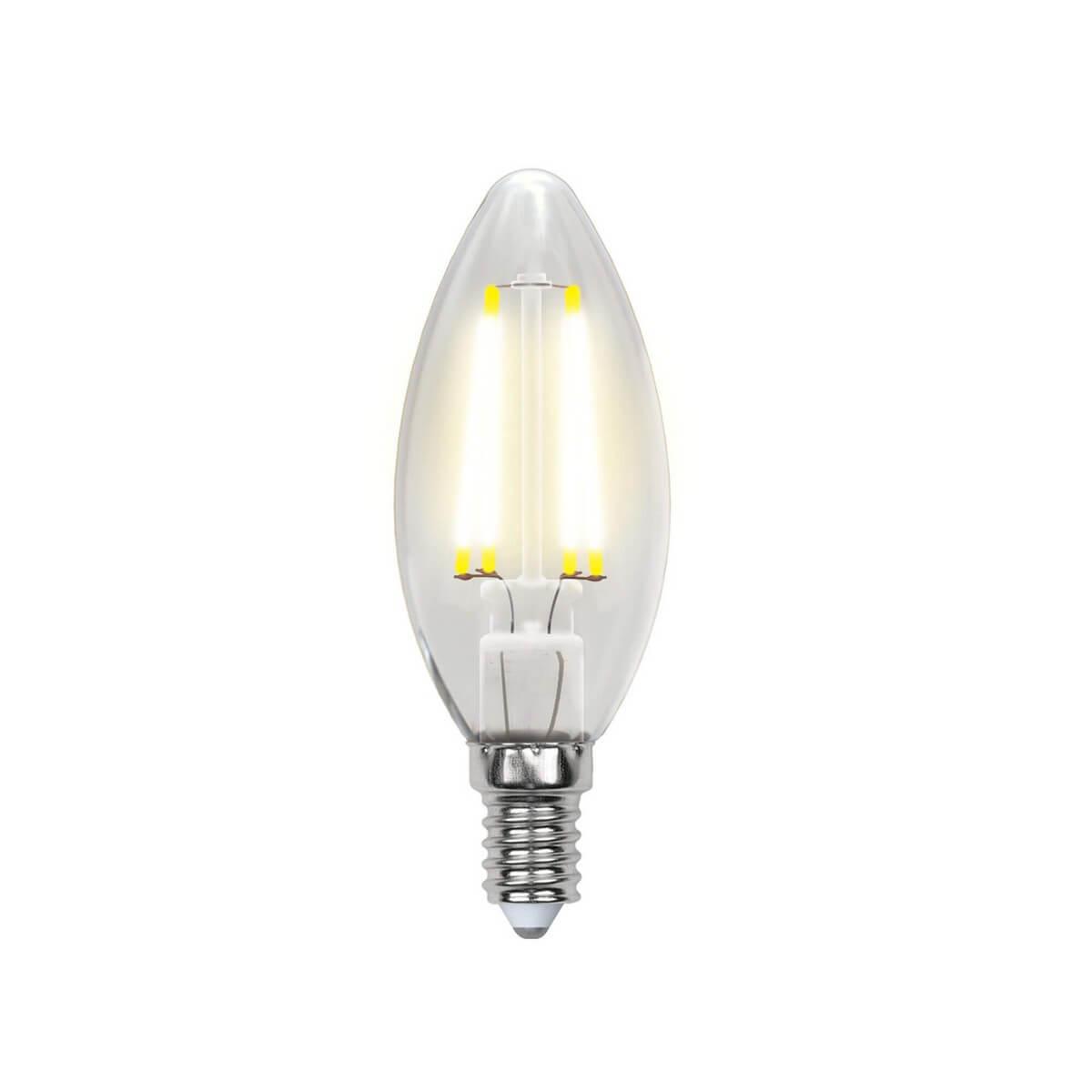 Лампочка Uniel LED-C35-6W/WW/E14/CL PLS02WH SKY Candle