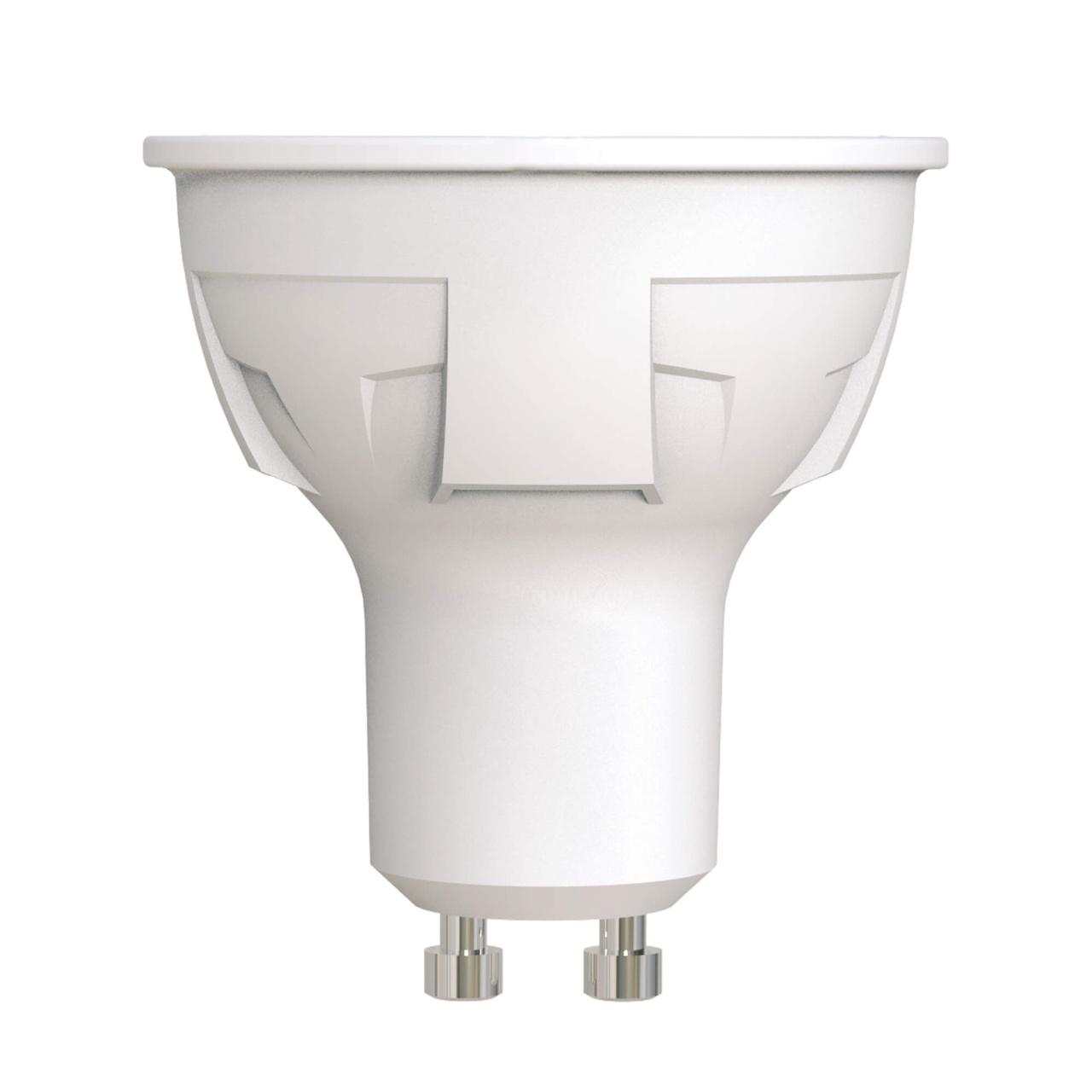 Лампа светодиодная диммируемая (UL-00003990) Uniel GU10 6W 3000K матовая LED-JCDR 6W/WW/GU10/FR/DIM PLP01WH