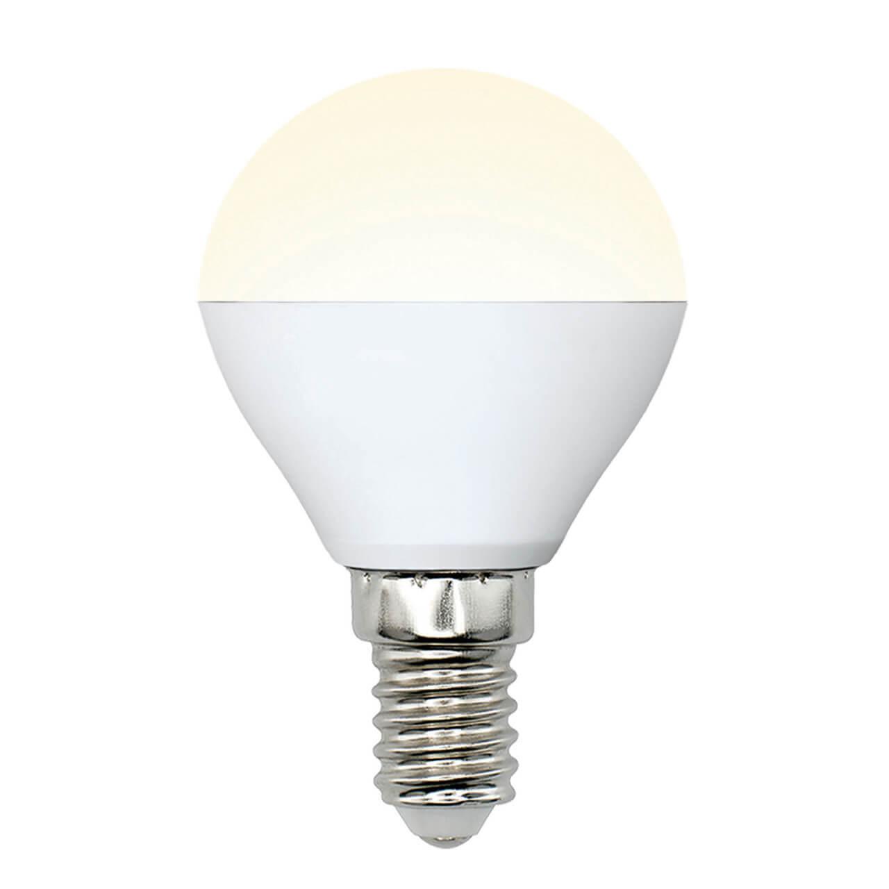 цена на Лампа светодиодная (UL-00002375) E14 6W 4000K матовая LED-G45-6W/WW/E14/FR/MB PLM11WH