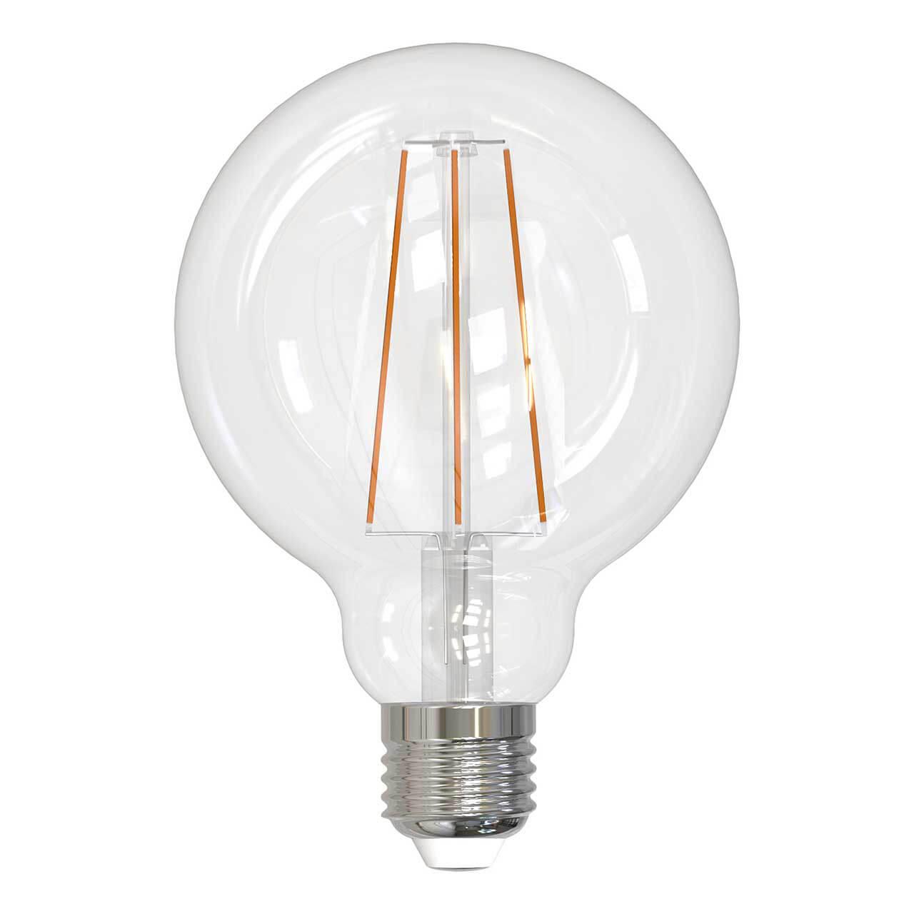 Лампочка Uniel LED-G95-15W/4000K/E27/CL PLS02WH SKY Globe лампа светодиодная филаментная ul 00001818 uniel e27 4w 2250k прозрачная led g95 4w golden e27 cw glv21go