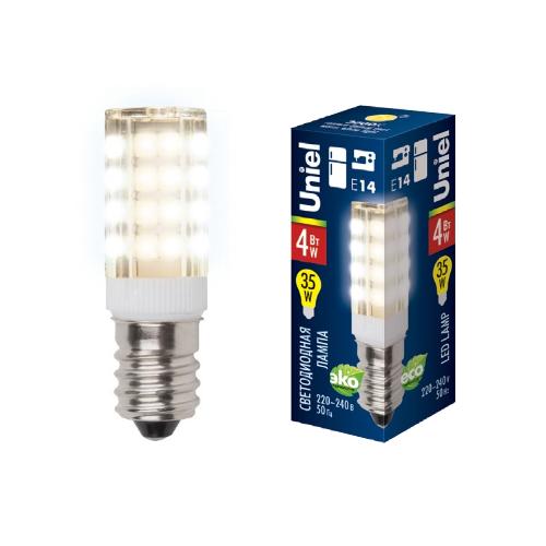 Лампочка Uniel LED-Y16-4W/WW/E14/CL PLZ04WH LED-Y16