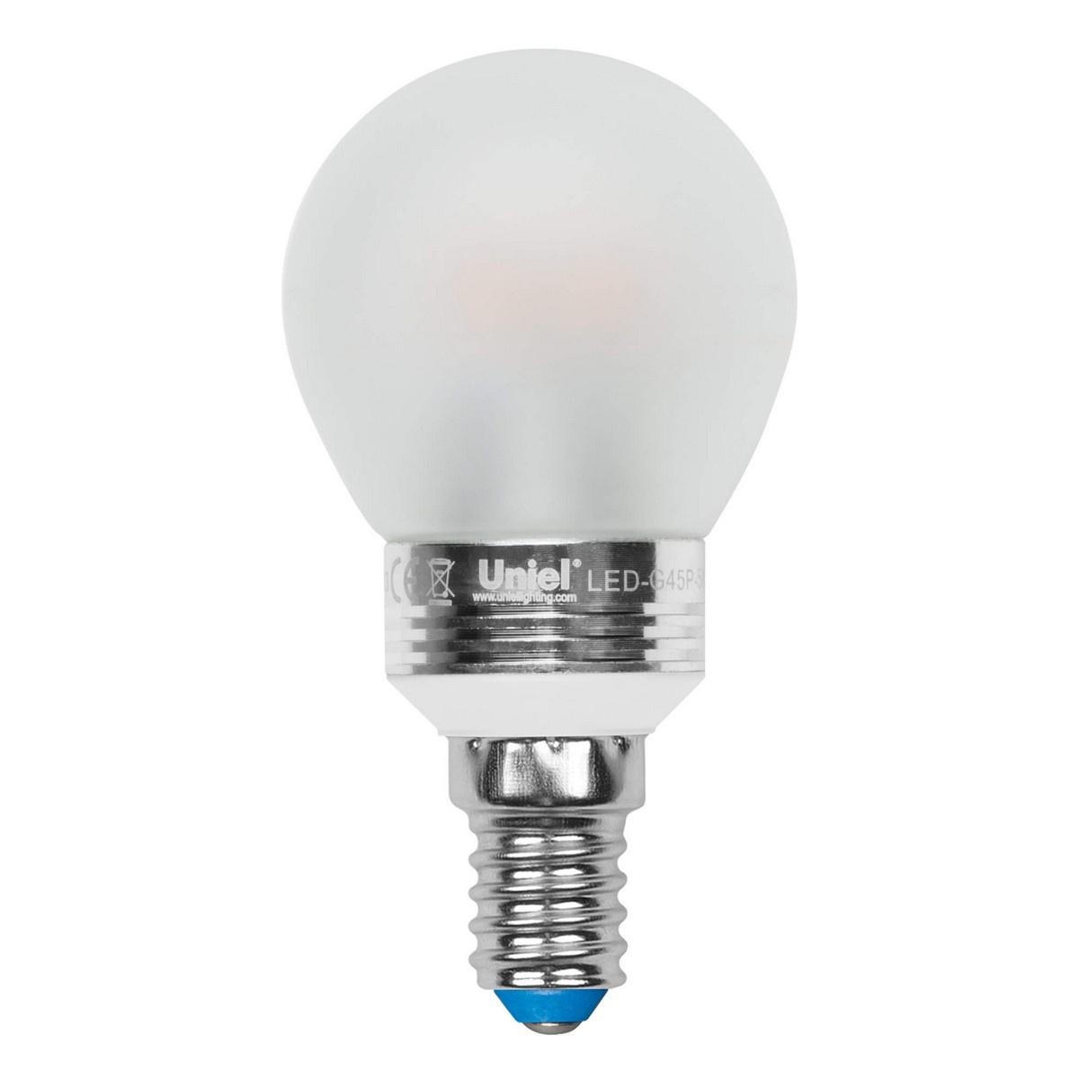 Лампа светодиодная (08010) E14 5W 4500K матовая LED-G45P-5W/NW/E14/FR