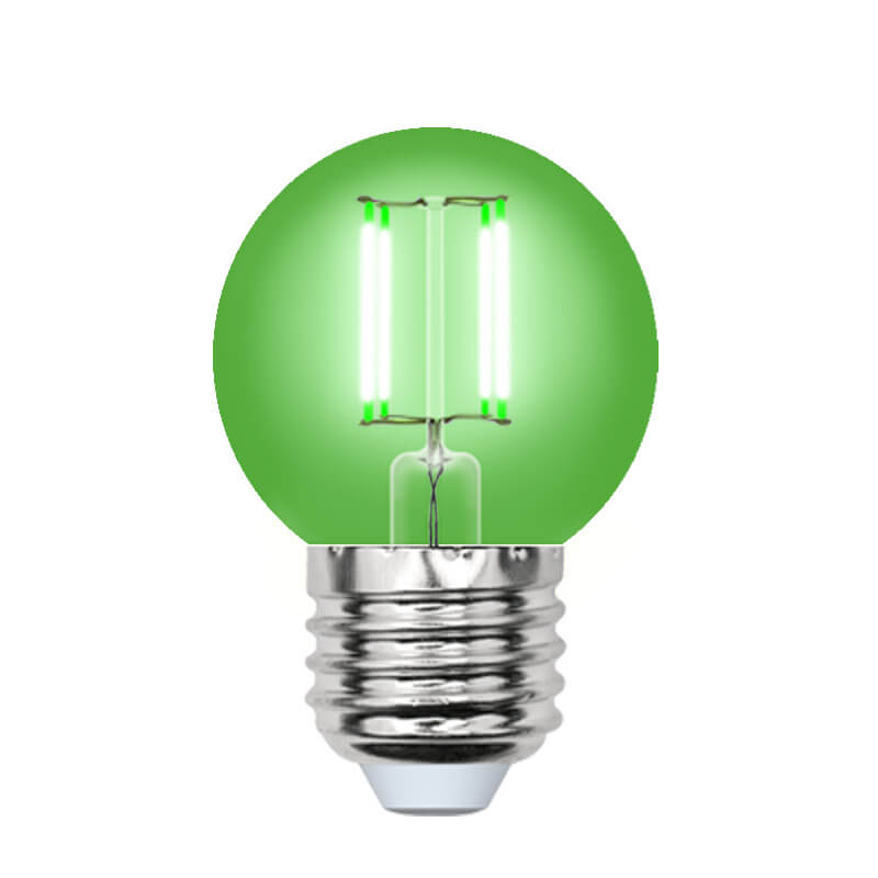 Лампочка Uniel LED-G45-5W/GREEN/E27 GLA02GR AIR Color